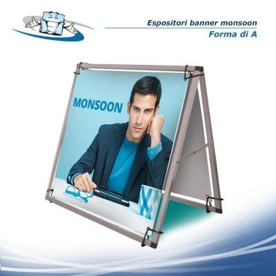 Piantanina in plexiglass piccolo espositore da terra per fogli singoli o brochure