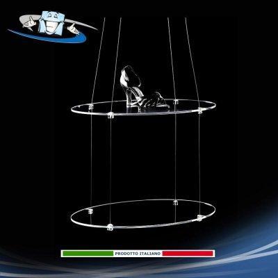 mensole in sospensione in plexiglass