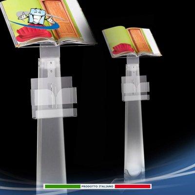 Piantana per depliant in plexiglass espositore da terra multifunzione