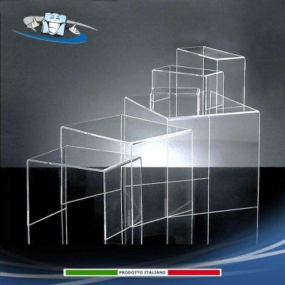 Alzata espositiva per vetrina, Ripiani in Plexiglass varie dimensioni