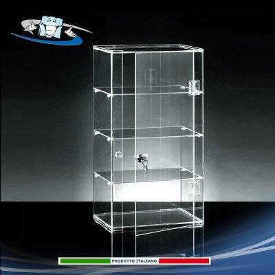 Vetrinetta vetrina espositiva da banco in plexiglass con serratura